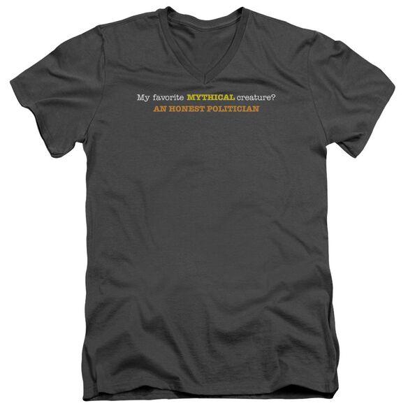 Honest Politician Short Sleeve Adult V Neck T-Shirt
