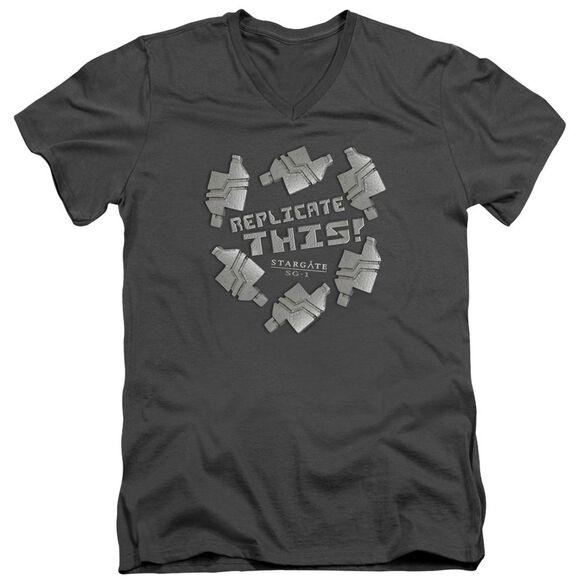 Sg1 Replicate This Short Sleeve Adult V Neck T-Shirt