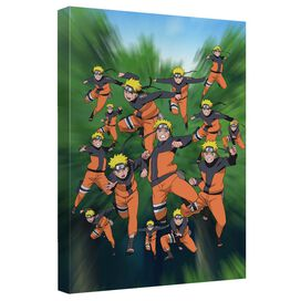 Naruto Shippuden Naruto In Action Canvas Wall Art With Back Board