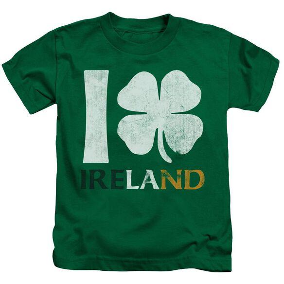 I Love Ireland Short Sleeve Juvenile Kelly T-Shirt