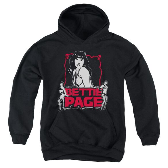 Bettie Page Bettie Scary Hot Youth Pull Over Hoodie