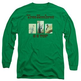 Zz Top Tres Hombres Long Sleeve Adult Kelly T-Shirt