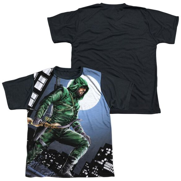 Arrow Night Watch Short Sleeve Youth Front Black Back T-Shirt