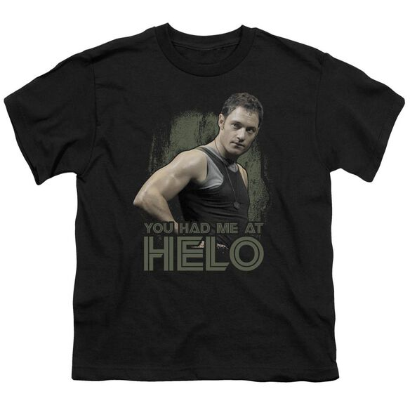 Bsg Had Me At Helo Short Sleeve Youth T-Shirt