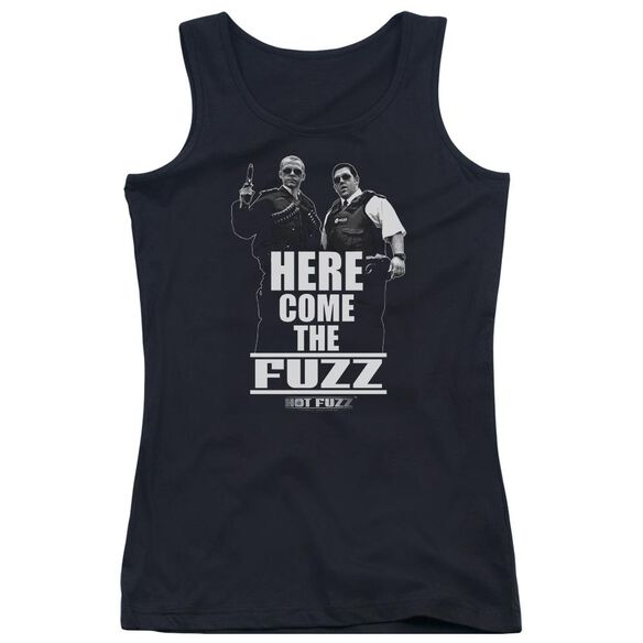 Hot Fuzz Here Come The Fuzz Juniors Tank Top