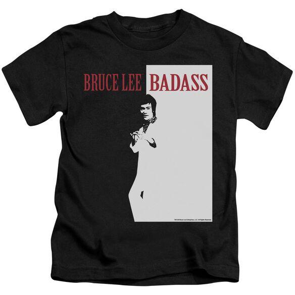 Bruce Lee Badass Short Sleeve Juvenile Black Md T-Shirt