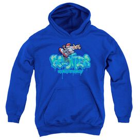 Sk8 Ter Bloo Youth Pull Over Hoodie Royal