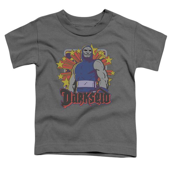 Dc Darkseid Stars Short Sleeve Toddler Tee Charcoal T-Shirt