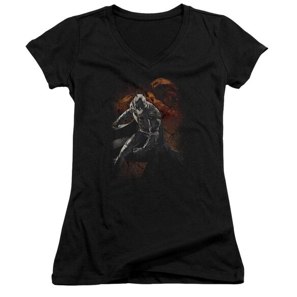 Dark Knight Rises Grungy Knight Junior V Neck T-Shirt