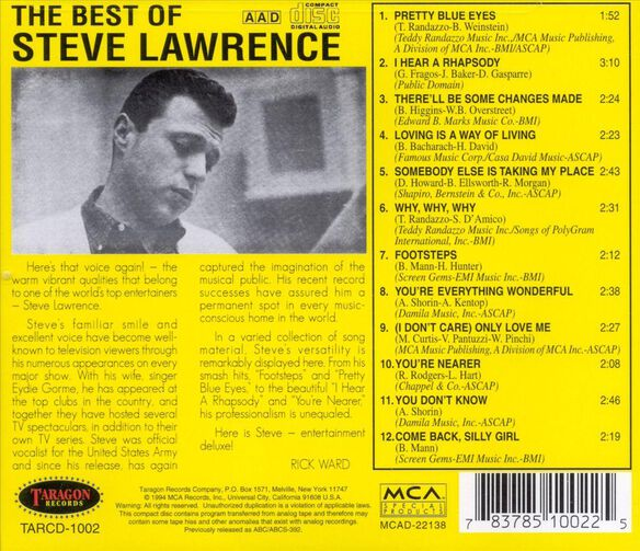 Best Of Steve Lawrence798