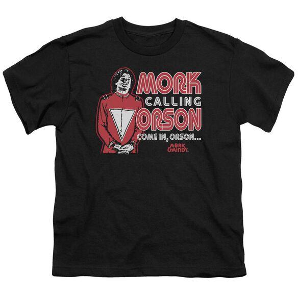 Mork & Mindy Mork Calling Orson Short Sleeve Youth T-Shirt