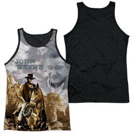 John Wayne Ride Em Cowboy Adult Poly Tank Top Black Back