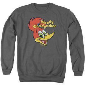 Woody Woodpecker Retro Logo Adult Crewneck Sweatshirt