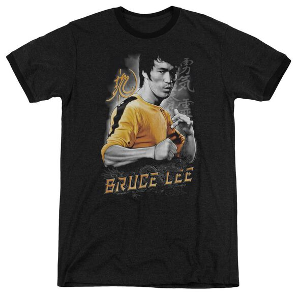 Bruce Lee Yellow Dragon Adult Heather Ringer