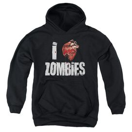 I Bloody Heart Zobmies Youth Pull Over Hoodie