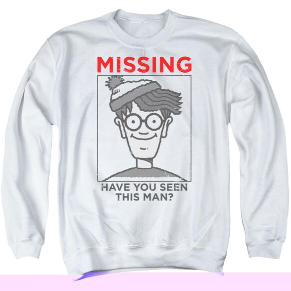 Wheres Waldo Missing Adult Crewneck Sweatshirt