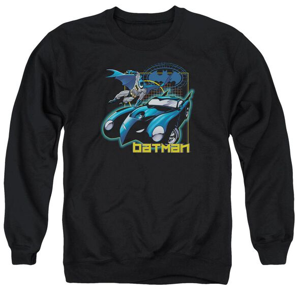 Batman Nice Wheels Adult Crewneck Sweatshirt