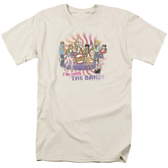 Archie Comics With The Band Short Sleeve Adult Cream T-Shirt