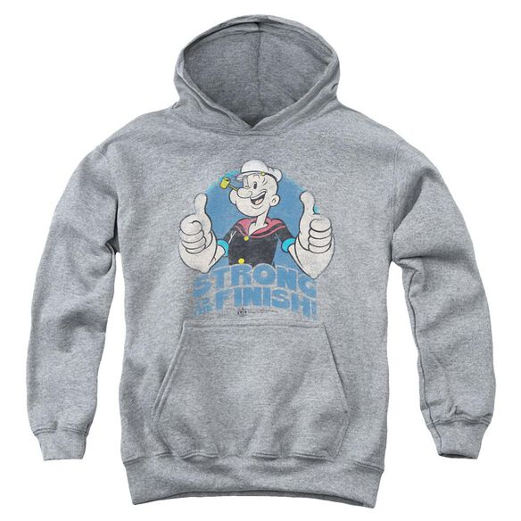 Popeye To The Finish Youth Pull Over Hoodie