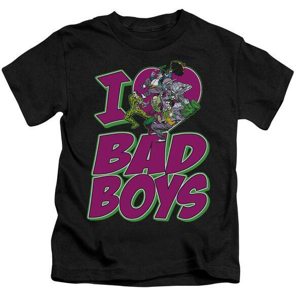 Dc I Heart Bad Boys Short Sleeve Juvenile Black T-Shirt