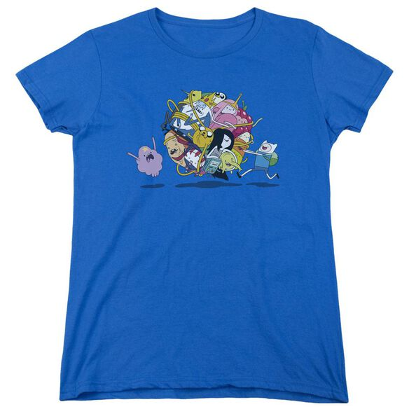 Adventure Time Glob Ball Short Sleeve Womens Tee Royal T-Shirt