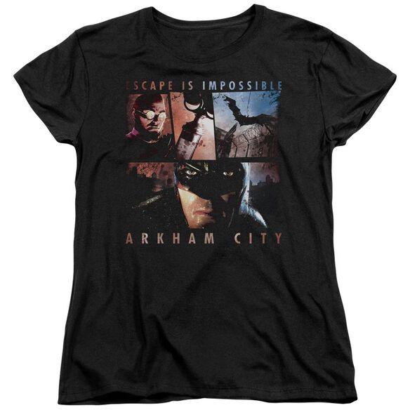 ARKHAM CITY ESCAPE IS IMPOSSIBLE - S/S WOMENS TEE - BLACK T-Shirt