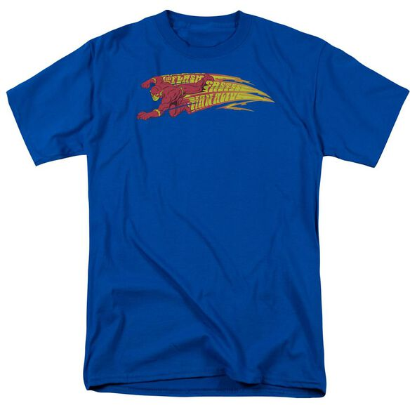 Dc Flash Fastest Man Alive Short Sleeve Adult Royal T-Shirt