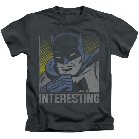 Dc Interesting Short Sleeve Juvenile Charcoal T-Shirt