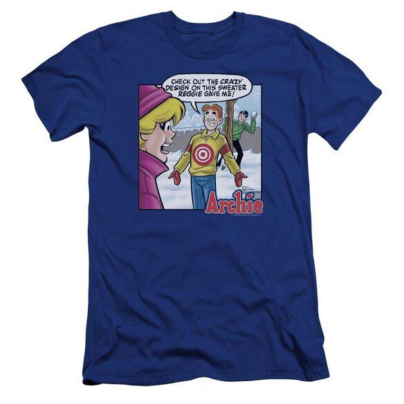 Archie Comics Crazy Sweater Premuim Canvas Adult Slim Fit Royal