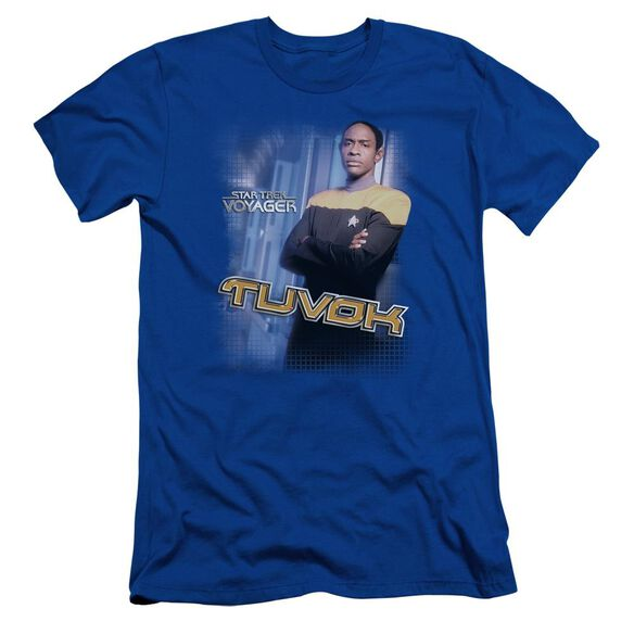 Star Trek Tuvok Short Sleeve Adult Royal T-Shirt