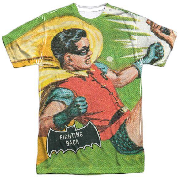 Batman Classic Tv Fighting Back Short Sleeve Adult Poly Crew T-Shirt