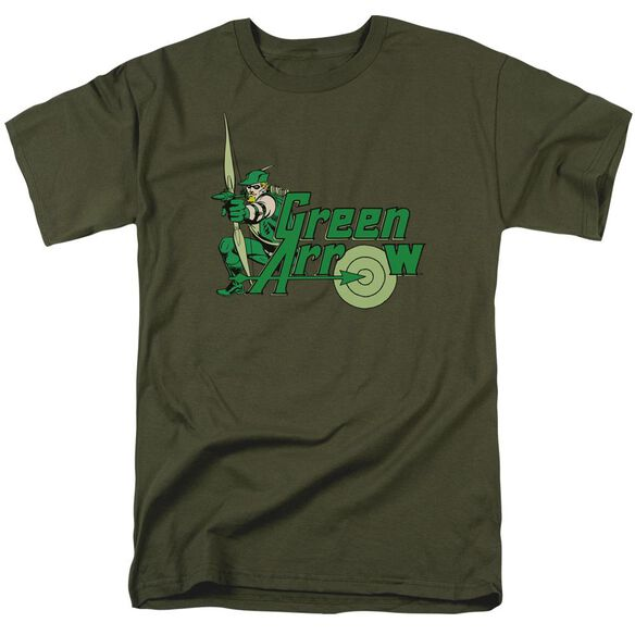 Dc Green Arrow Short Sleeve Adult Military Green T-Shirt
