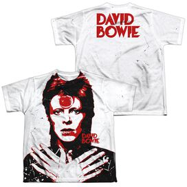 David Bowie Piercing Gaze (Front Back Print) Short Sleeve Youth Poly Crew T-Shirt