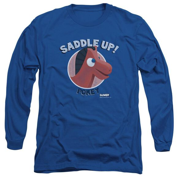 Gumby Saddle Up Long Sleeve Adult T-Shirt