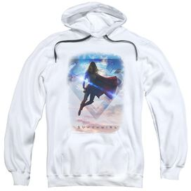 Supergirl Endless Sky Adult Pull Over Hoodie