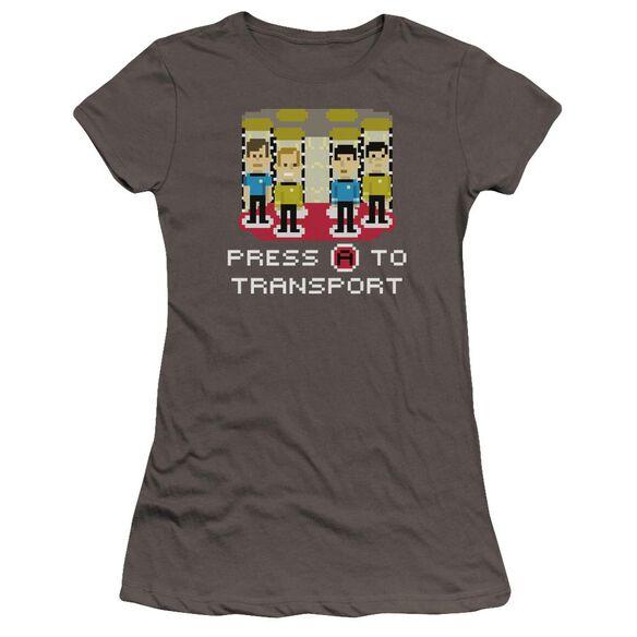 Star Trek Press A To Transport Premium Bella Junior Sheer Jersey