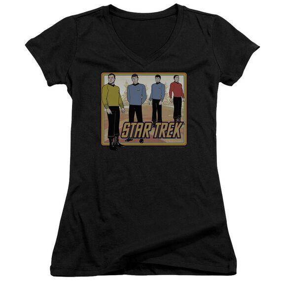 Star Trek Classic Junior V Neck T-Shirt