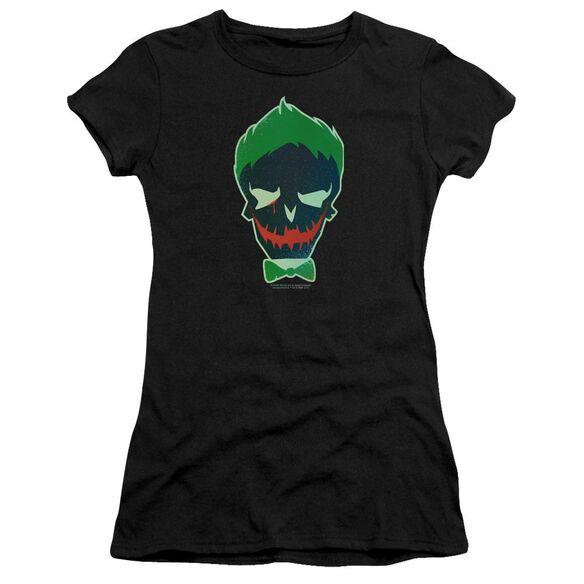 Suicide Squad Joker Skull Hbo Short Sleeve Junior Sheer T-Shirt