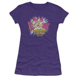 Dubble Bubble Ka Boom Short Sleeve Junior Sheer T-Shirt