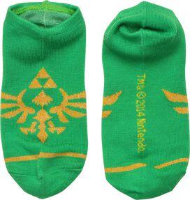 Zelda Skyward Crest Green Low Cut Socks