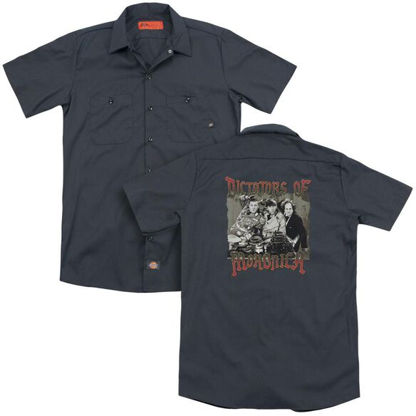 Three Stooges Moronica(Back Print) Adult Work Shirt