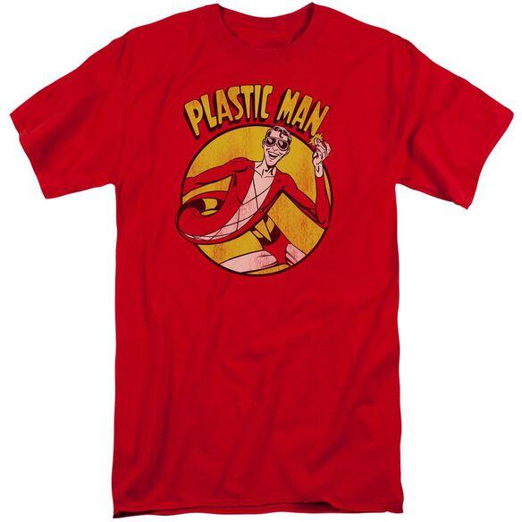 Dc Plastic Man Short Sleeve Adult Tall T-Shirt