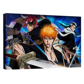 Bleach Three Warriors Canvas Wall Art With Back Board