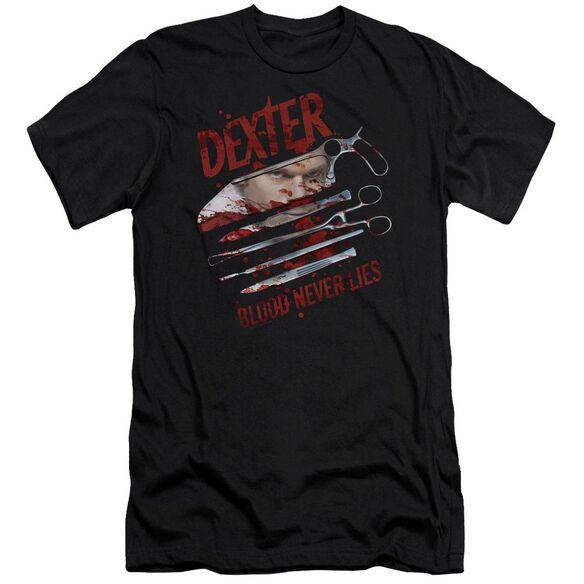 Dexter Blood Never Lies Premuim Canvas Adult Slim Fit