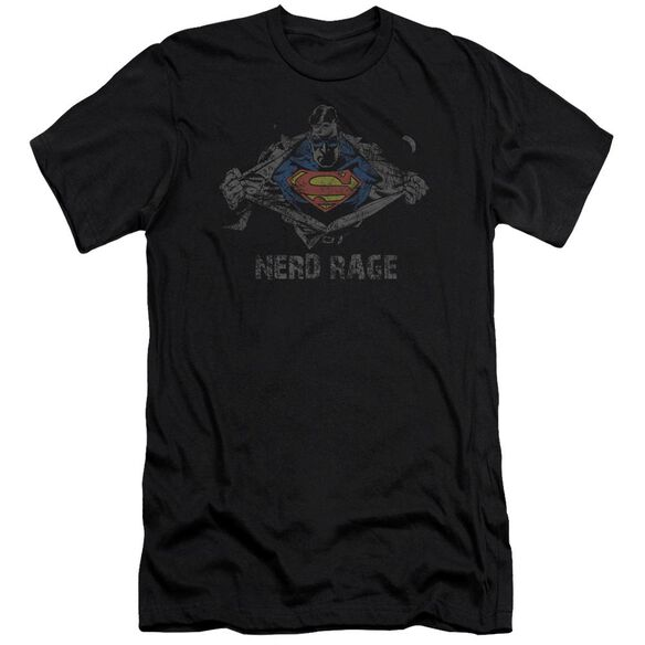 Superman Nerd Rage Premuim Canvas Adult Slim Fit