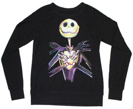 Nightmare Before Christmas Jack Skellington Crew Neck Sweater