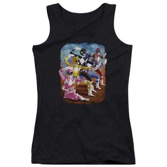 Power Rangers Impressionist Rangers Juniors Tank Top