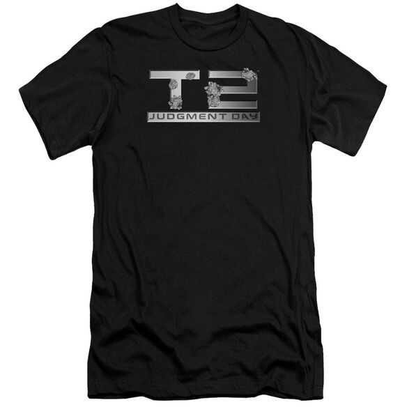 Terminator 2 Gunshot Logo Premuim Canvas Adult Slim Fit