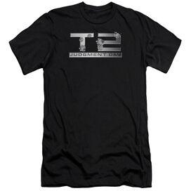 Terminator 2 Gunshot Logo Short Sleeve Adult T-Shirt