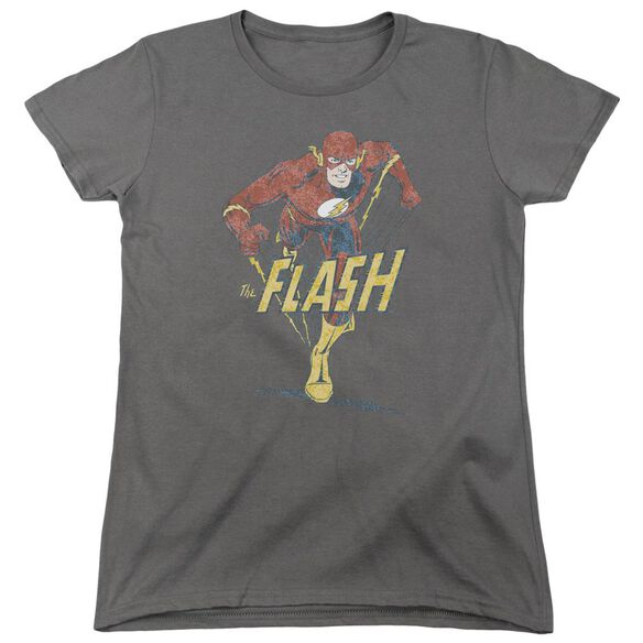 Dc Flash Desaturated Flash Short Sleeve Womens Tee T-Shirt